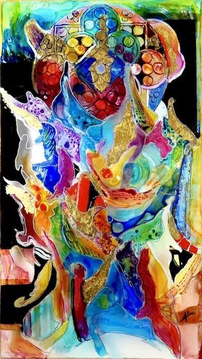 Bagno di Romagna (Fc): mostra d'arte Laura Alunni. Dipinto