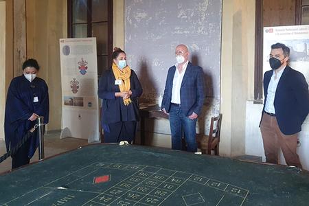 Visita Presidente Bonaccini al Castello di Guiglia (Mo)