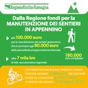 Dalla Regione fondi per la manutenzione dei sentieri in Appennino